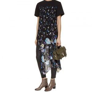 3.1 Phillip Lim Black Sheer Floral Print Tshirt